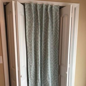 "Curtains (80"" long: 2 panels)"